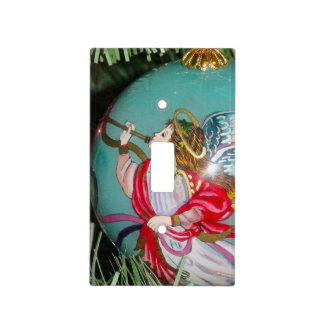 Christmas angel - christmas art -angel decorations light switch cover