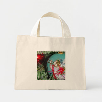 Christmas angel - christmas art -angel decorations mini tote bag