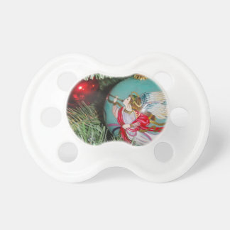 Christmas angel - christmas art -angel decorations pacifier