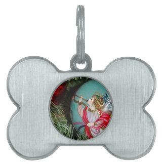 Christmas angel - christmas art -angel decorations pet ID tag