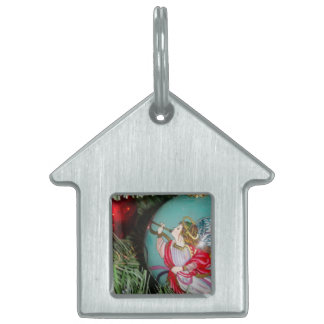 Christmas angel - christmas art -angel decorations pet tag