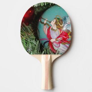 Christmas angel - christmas art -angel decorations ping pong paddle
