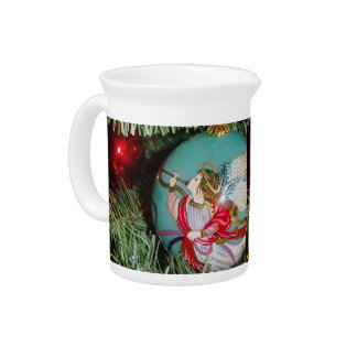 Christmas angel - christmas art -angel decorations pitcher