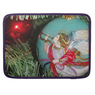 Christmas angel - christmas art -angel decorations sleeve for MacBook pro