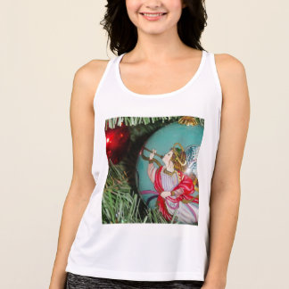 Christmas angel - christmas art -angel decorations tank top