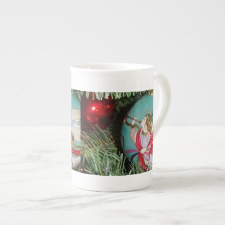 Christmas angel - christmas art -angel decorations tea cup