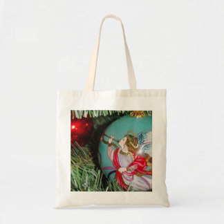 Christmas angel - christmas art -angel decorations tote bag