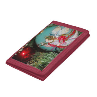 Christmas angel - christmas art -angel decorations tri-fold wallet