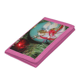 Christmas angel - christmas art -angel decorations tri-fold wallets