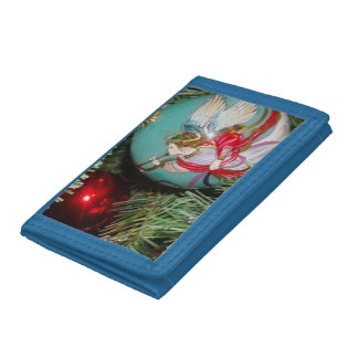 Christmas angel - christmas art -angel decorations trifold wallet
