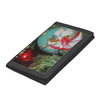 Christmas angel - christmas art -angel decorations trifold wallets