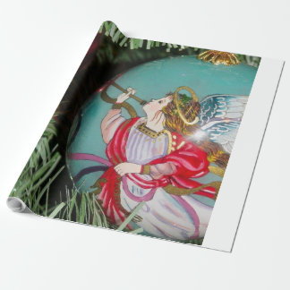 Christmas angel - christmas art -angel decorations wrapping paper