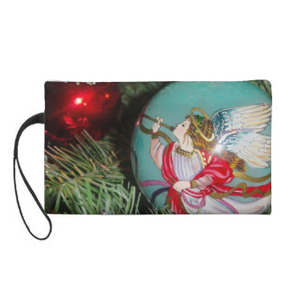 Christmas angel - christmas art -angel decorations wristlet