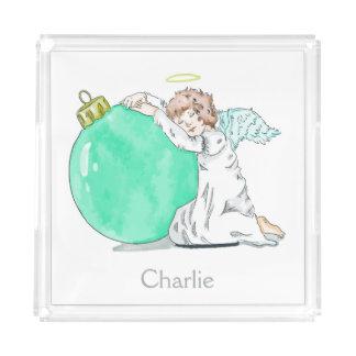 Christmas Angel custom name trays