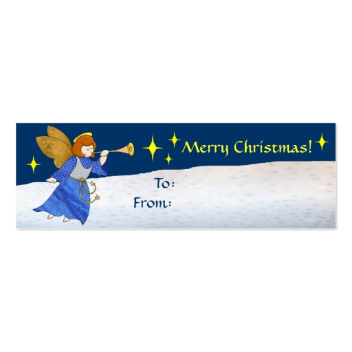 Christmas Angel Gift Tag Business Card Template