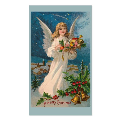 """""""Christmas Angel"""" Gift Tag Business Cards"""