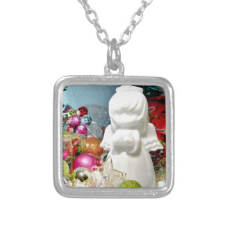 Christmas Angel I Silver Plated Necklace