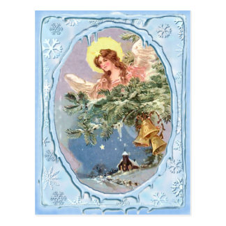 CHRISTMAS ANGEL & ICICLES by SHARON SHARPE Postcard
