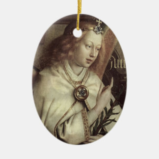 Christmas Angel, Jan van Eyck Ceramic Ornament