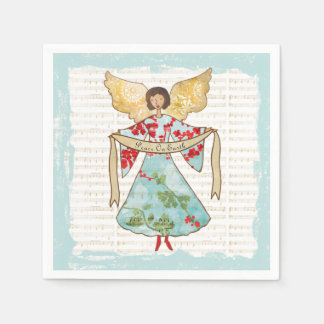 Christmas Angel Peace on Earth Disposable Napkins