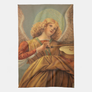 Christmas Angel Playing Violin Melozzo da Forli Kitchen Towel