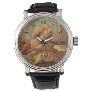 Christmas Angel Playing Violin Melozzo da Forli Wrist Watches
