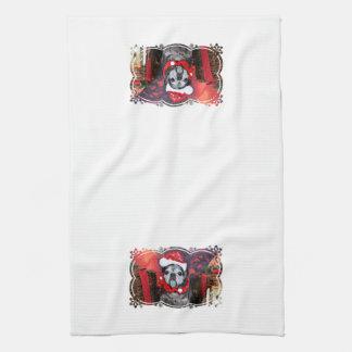 Christmas - Angel - Pug Hand Towel