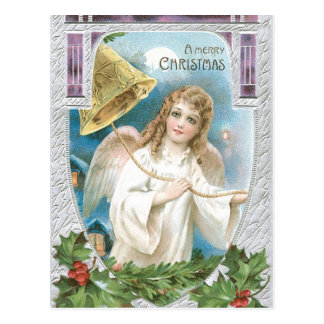 Christmas Angel ringing a bell Postcard