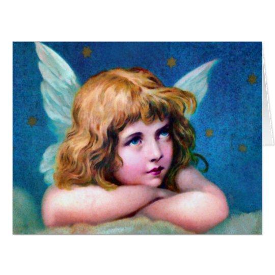 Christmas Angel Victorian Big Greeting Card