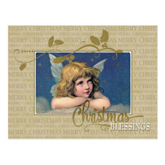 Christmas Angel Vintage Reproduction Postcard