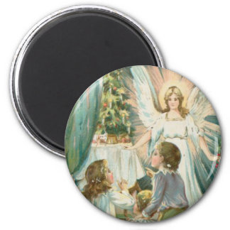 Christmas Angel with Children Magnet