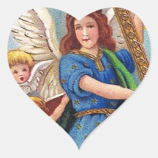 Christmas_angel_with_cross_1914.jpg Heart Sticker