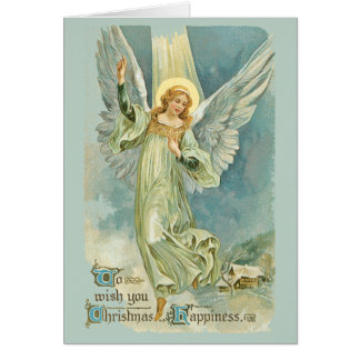 Christmas Angel with Ray of Light Greeting Card