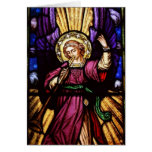 Christmas Angel with Trumpet Greeting Card
