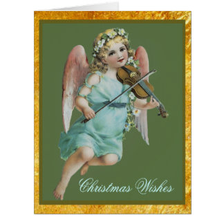 Christmas Angel with Violin Big Card