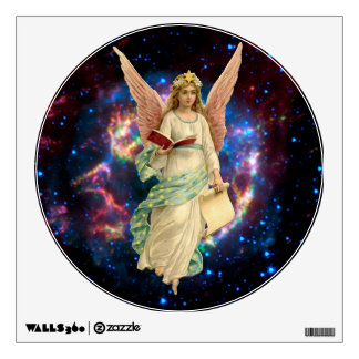 Christmas Angel with Wings and book Wall Sticker