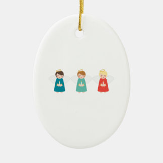 Christmas Angels Ceramic Ornament