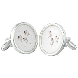 Christmas angels cuff links