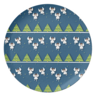 Christmas angels pattern plate