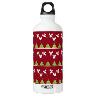 Christmas angels pattern water bottle