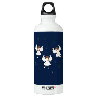 Christmas angels water bottle