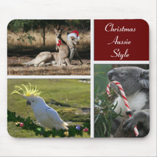 Christmas Animals Aussie Style - Personalizable Mouse Pad