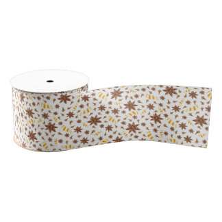 Christmas anise star grosgrain ribbon