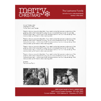 Christmas - Annual Holiday Letter - TEMPLATE Letterhead