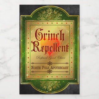 Christmas Apothecary Label