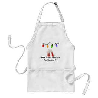 Christmas Apron For The Woman That Loves Shoes