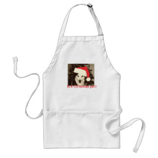 Christmas Apron with Santa Husky