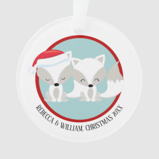 Christmas Arctic Fox Personalized Photo Ornament