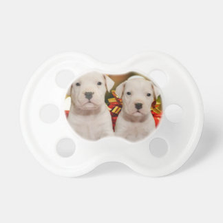 Christmas Argentine Dogo puppies Baby Pacifiers