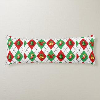 Christmas Argyle Body Pillow